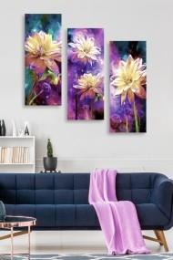 Tablou decorativ (set 3 piese) Marvellous 537MRV5117 multicolor