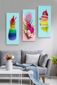 Tablou decorativ (set 3 piese) Marvellous 537MRV5124 multicolor