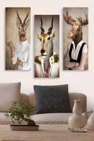 Tablou decorativ (set 3 piese) Marvellous 537MRV5176 multicolor