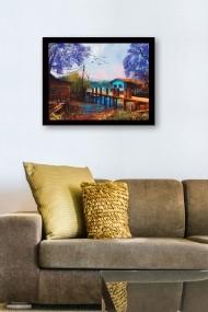 Tablou cu rama din lemn Marvellous 537MRV1608 multicolor