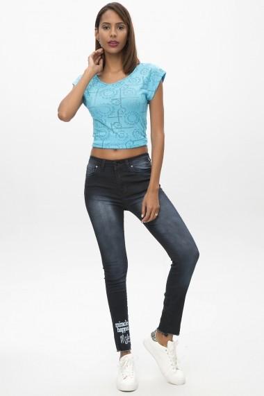 Jeansi skinny ME YOU 650-5007 B045 Bleumarin