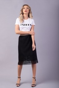 Fusta plisata Couture de Marie 0008052 din tulle cu insertie de dantela Daisy