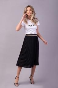 Fusta plisata Couture de Marie 0008054 din voal plin negru Aria