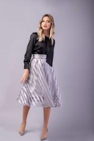Fusta gri Couture de Marie 0008049 din organza Evelyn