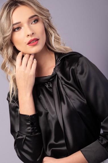 Camasa neagra Couture de Marie 0008048 din matase Ellie