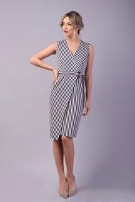 Rochie petrecuta Couture de Marie 0008041 din bumbac in dungi Luna