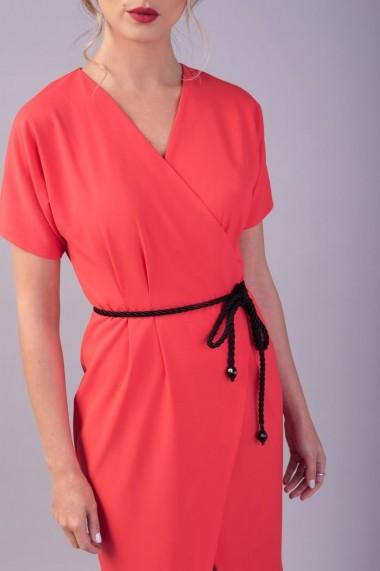 Rochie petrecuta Couture de Marie 0008040 din bumbac coral Claire