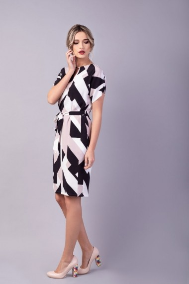 Rochie print geometric Couture de Marie 0008038 dreapta Mia