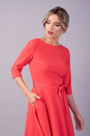 Rochie clos Couture de Marie 0008039 din bumbac coral Eva