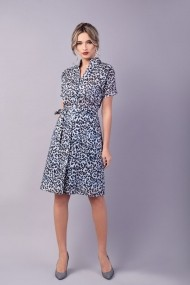 Rochie camasa Couture de Marie 0008035 animal print Willa