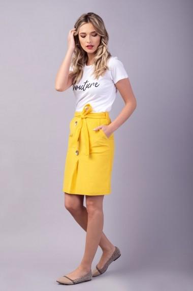 Tricou Couture de Marie 0008046 din bumbac alb