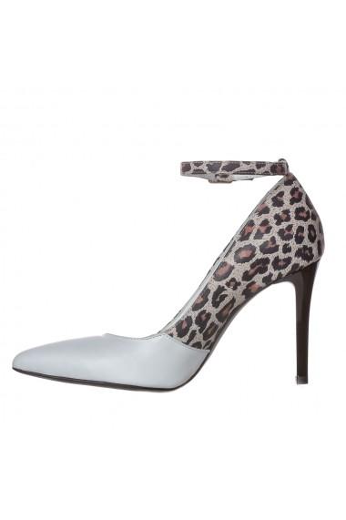 Pantofi cu toc Luisa Fiore Salvia LFD-SALVIA-01 alb/animal print