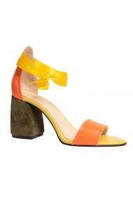 Sandale cu toc Luisa Fiore LFD-ORANGE-01 Multicolor