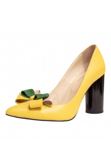 Pantofi cu toc Garogano LFD-GAROFANO-01 Galben