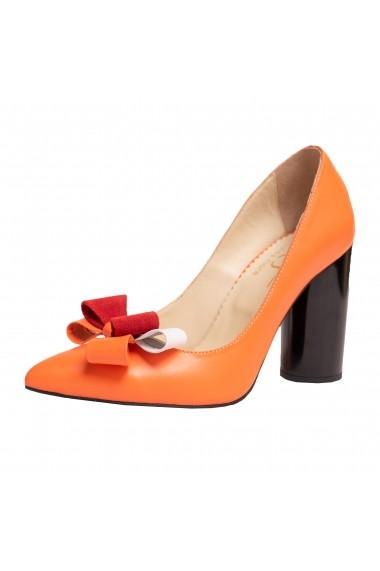 Pantofi piele Luisa Fiore LFD-GAROFANO-02 portocaliu