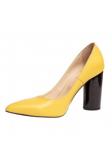 Pantofi piele Luisa Fiore LFD-ISA-01 galben
