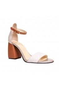 Sandale cu toc Luisa Fiore LFD-LIMONADE-O1 Alb