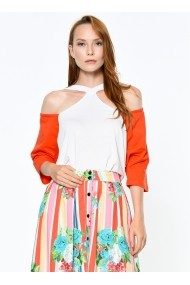 Bluza Bambina Mia KR2023-TURUNCU portocaliu