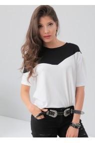 Tricou Bambina Mia KR1667-BEYAZ alb