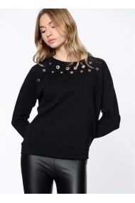 Hanorac Bambina Mia KR2204-SIYAH negru