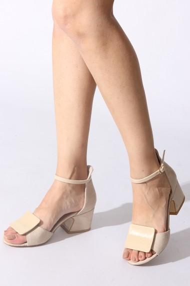 Sandale cu toc Rovigo 389380 bej