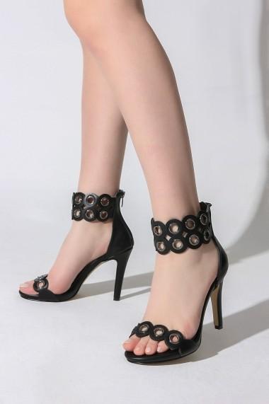 Sandale cu toc Rovigo 813AA negru