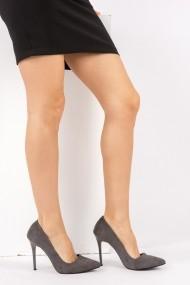 Pantofi cu toc Fox Shoes 8922151902 gri