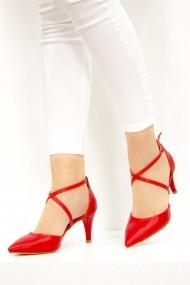 Pantofi cu toc Fox Shoes D654054809 rosu