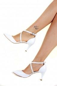 Pantofi cu toc Fox Shoes D654054809 alb
