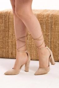 Pantofi cu toc Fox Shoes D752080302 bej