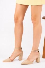 Pantofi cu toc Fox Shoes D922676702 bej
