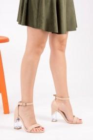 Pantofi cu toc Fox Shoes H340017109 bej