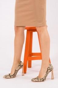 Pantofi cu toc Fox Shoes H922252207 bej