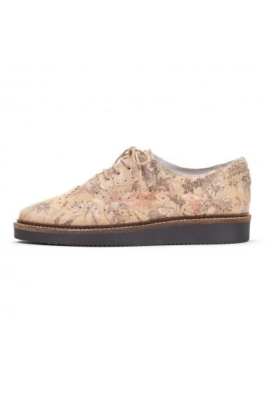 Pantofi Oxford Nappo din piele naturala cu imprimeu floral