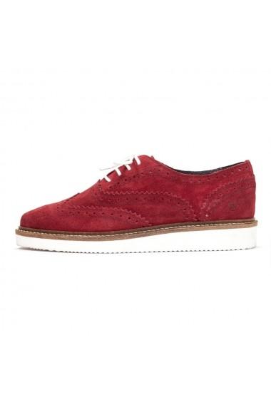 Pantofi Oxford Nappo din piele intoarsa Bordeaux