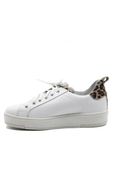 Pantofi sport casual Nappo albi din piele naturala