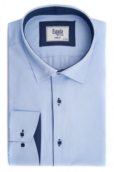 Camasa ESPADA MEN`S WEAR eleganta slim fit uni bleu cu dunga