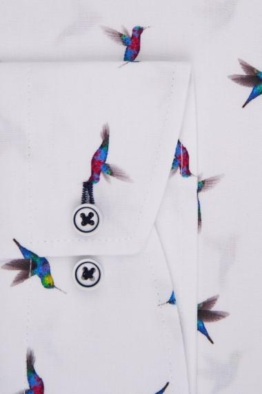Camasa Espada casual slim fit print pasari colibri