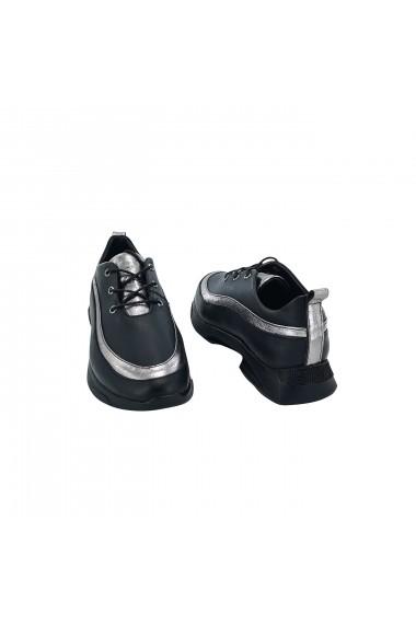 Pantofi piele naturala dama Torino, 089 negri