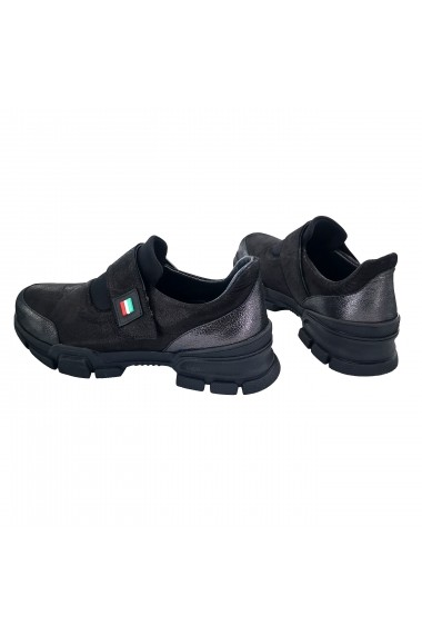 Pantofi piele naturala dama Torino 1006 negri