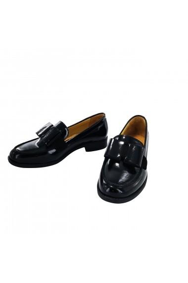 Pantofi din piele Torino 4201 Negri