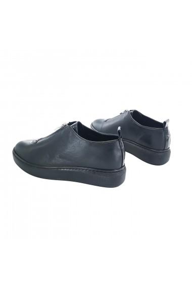 Pantofi din piele Torino 102-120 Negri