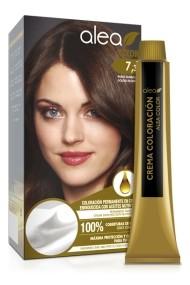 Vopsea de par cu ulei de argan Blond Auriu 7,3 Alea Color kit 155 gr