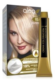 Vopsea de par cu ulei de argan Blond Platinat Cenusiu 10,1 Alea Color kit 155 gr