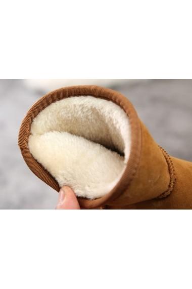 Cizme Superbebeshoes fetite maro imblanite MDcp1753-3-Maro
