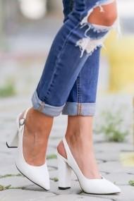 Pantofi cu toc AWON 8A74009BYR alb