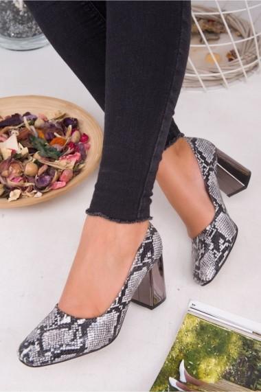 Pantofi cu toc AWON 5368GRY gri