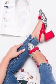 Pantofi cu toc AWON 5218KI rosu
