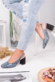 Pantofi cu toc AWON 5319MY albastru