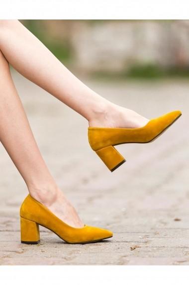 Pantofi cu toc AWON 8A71001HRS mustar - els